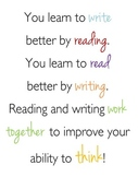 """You Learn to Write by Reading"" Quote Poster"
