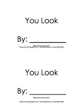 "Harcourt Storytown K, lesson 15, You Look book-hfw ""you"" """