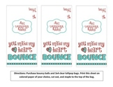 """You Make My Heart Bounce"" Valentine Printable"