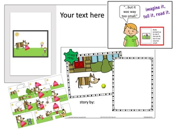 You Make the Story - PowerPoint EDITABLE Books (Book 1 Dog & Hat)