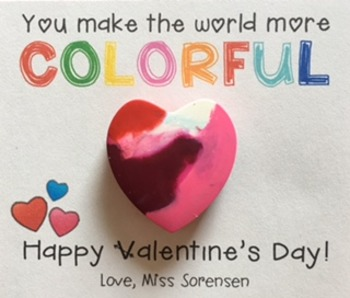 You Make the World More Colorful Free Printable Valentine