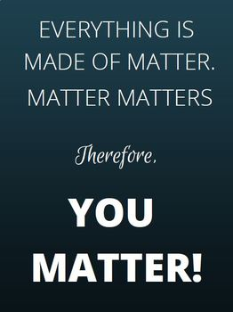 You Matter-Inspirational Class Poster