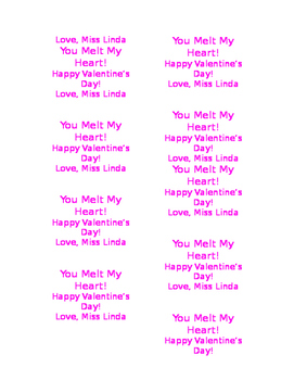 You Melt My Heart Editable Labels