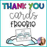 Thank You Cards- Winter- Freebie