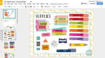 You Need Classroom Supply DIGITAL Icons