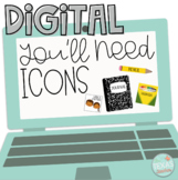 You Need Classroom Supply DIGITAL Icons