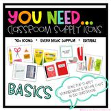 You Need Classroom Supply Icon BASICS