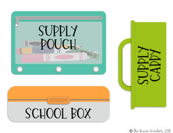 You Need Classroom Supply Icons BUNDLE