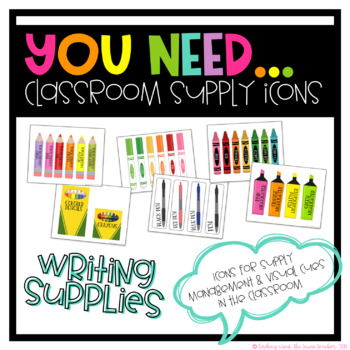You Need Writing Supplies Icons