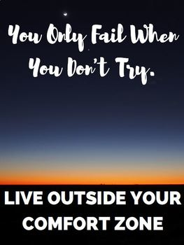 You Only Fail When You Don't Try -Motivational Class Poster