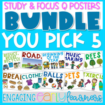 You Pick 5 Custom Bundle - Theme, Focus Question & Question Of The Day Posters