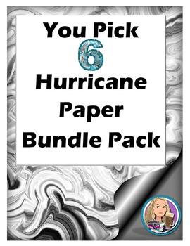 You Pick 6 Hurricane Paper Bundle Pack