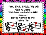 You Pick, I Pick, We All Pick...Treble Clef Note Name Edition - PDF