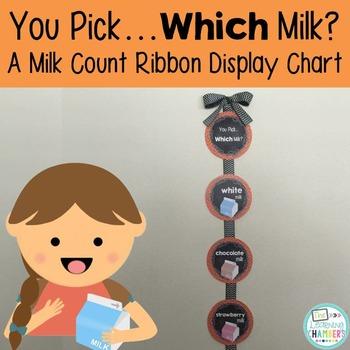 Chevron and Chalkboard Milk Choices Display: Editable, Cla