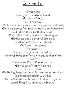 Birthday Packet