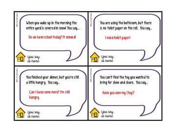 Social Skills You Say...at Home