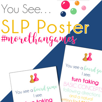 You See...SLP Poster