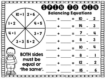 You Spin Me Right Round - Just Add A Spinner Math Games