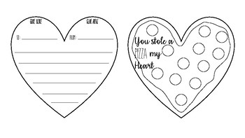 You Stole a Pizza My Heart Valentines Day Cards