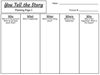 You Tell the Story Set 5:  A Creative Writing Station