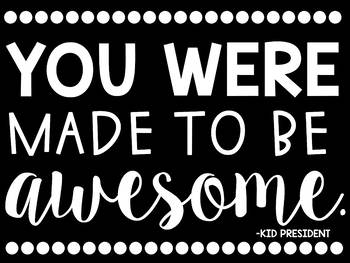 You Were Made To Be Awesome Bulletin Board Kit