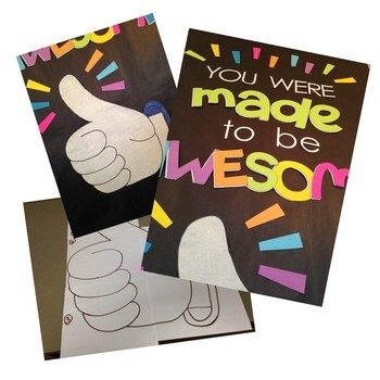 You Were Made to be Awesome Door Decoration Kit