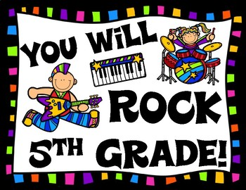 You Will Rock Fifth Grade End of School Year Brochure