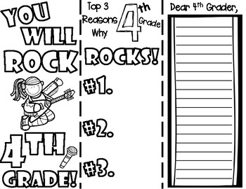 You Will Rock Fourth Grade End of School Year Brochure