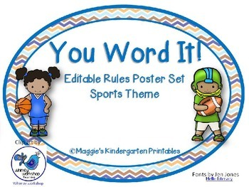 You Word It! Editable Sports Themed Class Rules