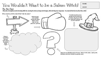 You Wouldn't Want to Be a Salem Witch! Active Listening/Reading Guide