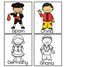 You and Me  (An International Kids' Pocket Chart Activity)