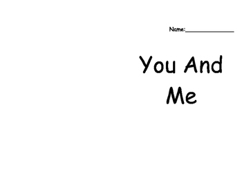 You and Me Sight Word Book