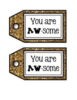You are AW-Some Appreciation Tag