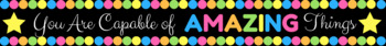 You are Capable of Amazing Things Banner