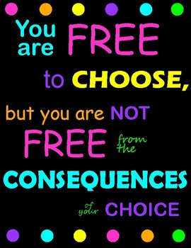 You Are Free To Choose Poster By Cheree Dale Teachers Pay Teachers