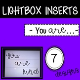 You are Kind Lightbox Inserts