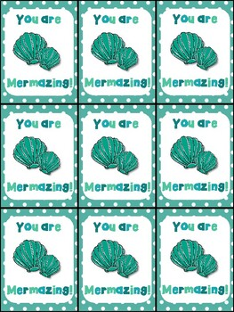 You are Mermazing gift tag for students and for teachers