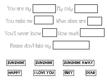 You are My Sunshine: Activity Pack