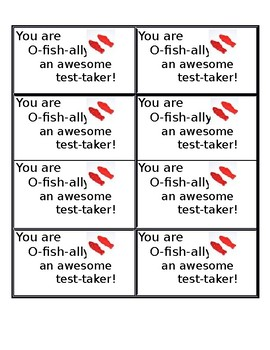 You are O-fish-ally an awesome test-taker