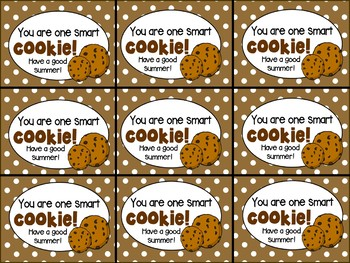 You are One Smart Cookie Test Motivation/Open House/Back to School/EOY Notes