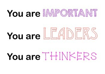 You are ... Posters