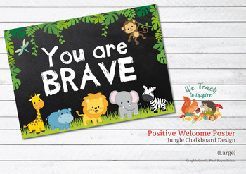 Jungle Positive Poster: You are Brave (Large high quality)