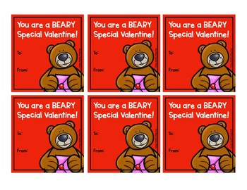 You are a BEARY Special Valentine Valentines