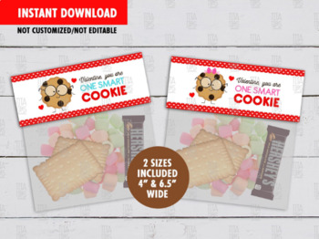 You are a Smart Cookie Treat Bag Topper, Printable Valentine Label Ideas