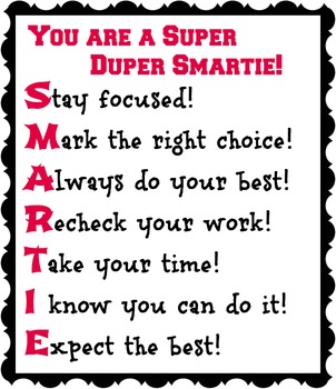 You are a Super Duper Smartie! Red