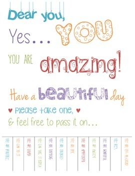 You are amazing! Bulletin Board Flyer