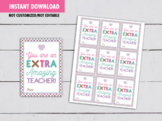 You are an EXTRA Amazing Teacher Card, Extra Gum Gift Tags Ideas