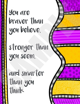 You are braver than you believe poster