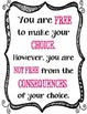 """{FREEBIE} """"You are free to make your choice""""/ Inspiration / Poster"""
