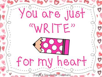 You are just WRITE for me gift tag